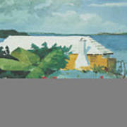 Flower Garden And Bungalow Bermuda Poster by Winslow Homer
