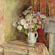 Flowers In A Vase Poster by Edouard Vuillard