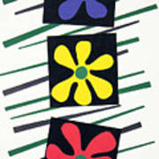 Flowers Three Poster by Teddy Campagna