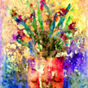 Flowery Illusion Poster by Arline Wagner