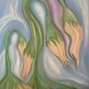 Flowing Onions Poster by Michelle  Thomann-Ramirez
