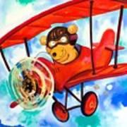 Flying Bear Poster by Scott Nelson