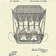 Flying Machine 1880 Patent Art Poster by Prior Art Design