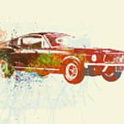 Ford Mustang Watercolor Poster by Naxart Studio