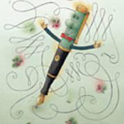 Fountain-pen  Poster by Kestutis Kasparavicius