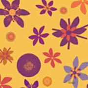 Fragrant Folly Orange Poster by Ruth Palmer