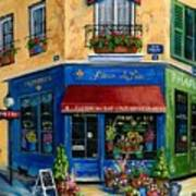 French Flower Shop Poster by Marilyn Dunlap