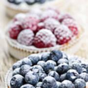 Fresh Berry Tarts Poster by Elena Elisseeva