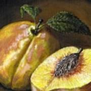 Fresh Peaches Poster by Adam Zebediah Joseph