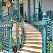 Front Steps To John Rutledge Home Poster by Steven Ainsworth