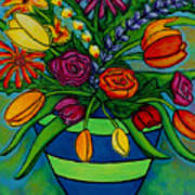 Funky Town Bouquet Poster by Lisa  Lorenz
