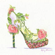 Garden Shoe Poster by Kathy Nesseth