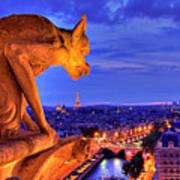 Gargoyle De Paris Poster by Traumlichtfabrik