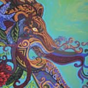 Gargoyle Lion Poster by Genevieve Esson