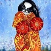 Geisha Chin Poster by Kathleen Sepulveda