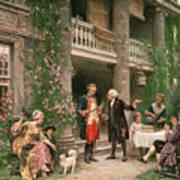George Washington At Bartrams Garden Poster by Jean Leon Jerome Ferris