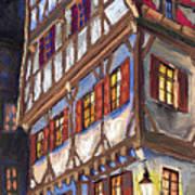 Germany Ulm Old Street Poster by Yuriy  Shevchuk