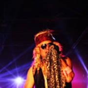 Glam Rock Lead Singer Poster by James Hammen