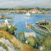 Gloucester Harbor Print By Willard Leroy Metcalf