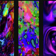 Glow And Flow 'triptych' Poster by Terril Heilman