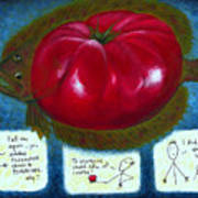 Gmo Tomfoolery Poster by Angela Treat Lyon