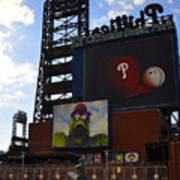 Go Phillies - Citizens Bank Park - Left Field Gate Poster by Bill Cannon