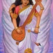 Goddess Saraswati Poster by Sue Halstenberg