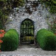 Gothic Entrance Gate, Walled Garden Poster by The Irish Image Collection