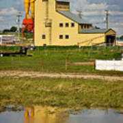 Grain Elevator In Balzac Alberta Poster by Louise Heusinkveld