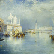 Grand Canal Venice Poster by Thomas Moran