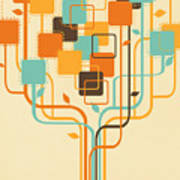 Graphic Tree Poster by Setsiri Silapasuwanchai