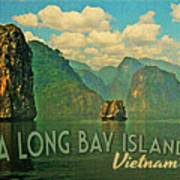 Ha Long Bay Islands Vietnam Poster by Flo Karp