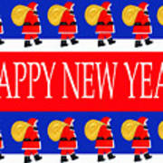 Happy New Year 7 Poster by Patrick J Murphy