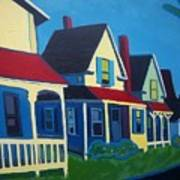 Harpswell Cottages Poster by Debra Robinson