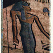 Hathor Holding The Ankh Sign Poster by Bernice Williams