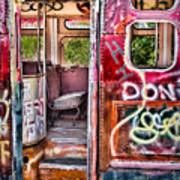 Haunted Graffiti Art Bus Poster by Susan Candelario