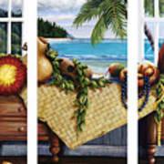 Hawaiian Still Life With Haleiwa On My Mind Poster by Sandra Blazel - Printscapes