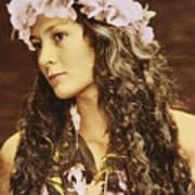 Hawaiian Wahine Poster by Himani - Printscapes