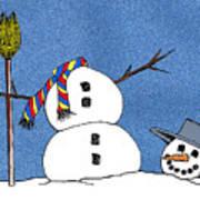Headless Snowman Poster by Nancy Mueller