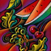 Healthy Fruit Poster by Leon Zernitsky