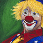 Hello Clown Poster by Patty Vicknair