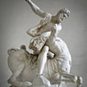 Hercules And Centaur Sculpture Poster by Artecco Fine Art Photography