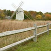 Higgins Farm Windmill Brewster Cape Cod Poster by Matt Suess