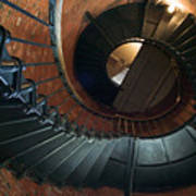 Highland Lighthouse Stairs Cape Cod Poster by Matt Suess