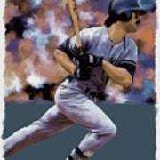 Hit Man  Don Mattingly  Poster by Iconic Images Art Gallery David Pucciarelli