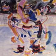 Hockey Game Poster by Ken Yackel