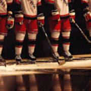 Hockey Reflection Poster by Karol Livote