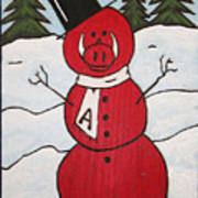 Hog Snowman Poster by Amy Parker