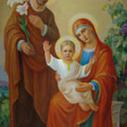 Holy Family With The Vine Tree Poster by Svitozar Nenyuk