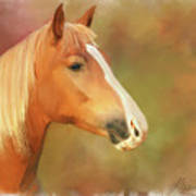 Horse Painting Poster by Michael Greenaway
